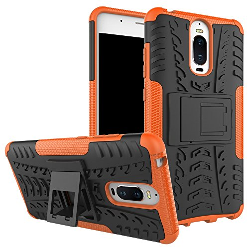 YHUISEN Hyun modello Dual Layer ibrida Armatura Caso staccabile Cavalletto 2 in 1 antiurto dura robusta copertura di caso per Huawei Mate 9 Pro (5,5 pollici) ( Color : Orange )
