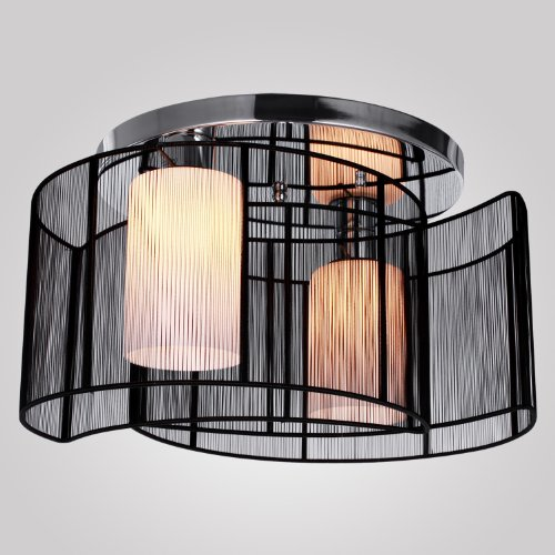 LightInTheBox Black Semi Flush Mount with 2 Lights, Mini Style Chandeliers Modern Ceiling Light Fixture for Hallway, Dining Room, Living Room