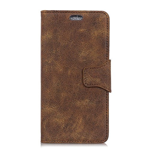jbTec Handy Hülle Hülle Leder Vintage - Schutz Tasche Smartphone Flip Cover Phone Bag Klapp Klappbar Etui Handyhülle Book, Farbe:Braun, passend für:Samsung Galaxy J4 Core