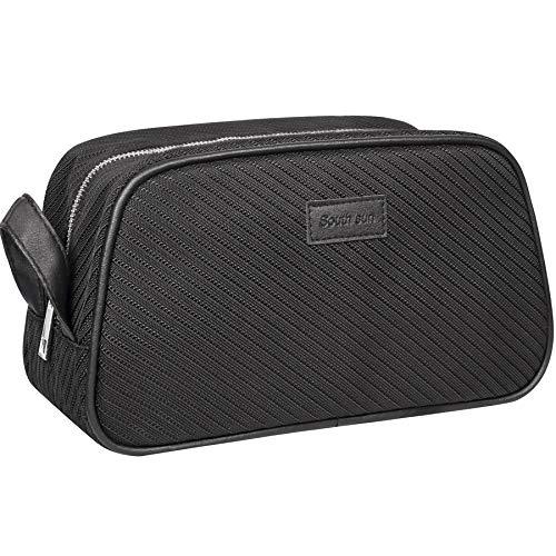 Travel Makeup Bag for Toiletries Bag Makeup Pouch Men & Women Large Cosmetic Bag Organizer Waterproof Multifunctional Best Value Travel Bags - Black
