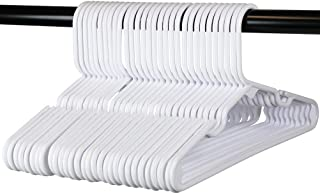 30 Premium Children's Hangers, Very Durable Heavy Duty Tubular Hangers, Made in The USA to Last a Lifetime! Designed to Fit for Children and Babies Value Pack of 30 - White