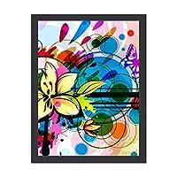 INOV 抽象美術26 ポスターフレーム アートポスター フレーム付き/額入り 絵画 絵 壁掛け リビング 玄関 インテリア 壁飾り プレゼント ギフト アートパネル アートフレーム
