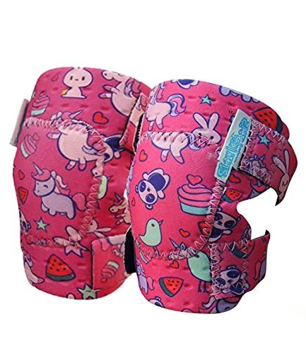 Simply Kids pads rodilla del bebé para el rastreo (2 pares) | protector para el niño, niño, niña, niño (unicornio)