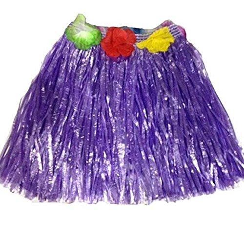 Kentop - Falda Hawaiana para Disfraz Hawaiano, Color Morado, tamaño 40 cm