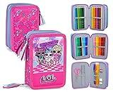 Lol Surprise 93524 - Estuche triple relleno, 44 accesorios escolares, 20 centímetros