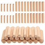 Faankiton 650 pezzi tasselli in legno tasselli scanalati in legno massello duro perni di r...