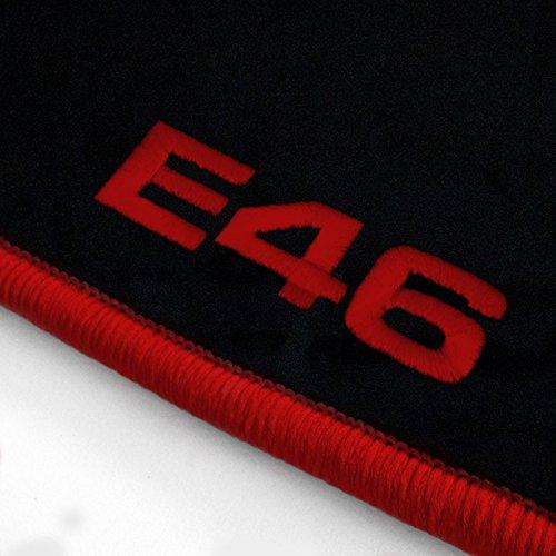 Passgenaue Velours Fußmatten Schwarz mit Logostick ATS-Q300_E46-103_BMW_014