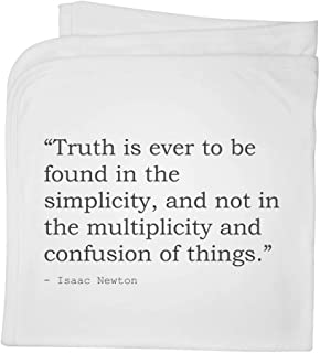 Truth Quote by Isaac Newton Cotton Baby Blanket / Shawl (BY00018216)