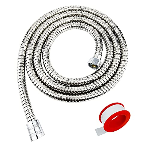 Shower Hose,79 Inches Extra Long Chrome Handheld Shower Head Hose With Brass insert and nut - Lightweight and Flexible