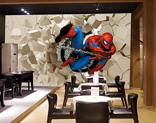 Avengers Wallpaper 3d Foto Wallpaper Spiderman Superman Pared Mural Niño Dormitorio Ladrillos Wallpaper Para Paredes Tv Telón De Fondo Decoración Ancho 250cm * Height175cm Un