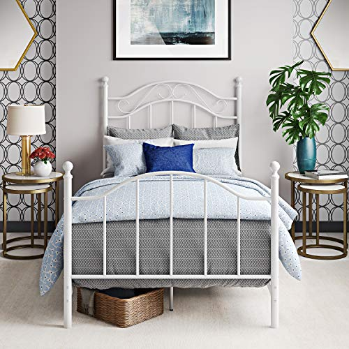 Dorel Living Winnie, White Twin Metal Bed,