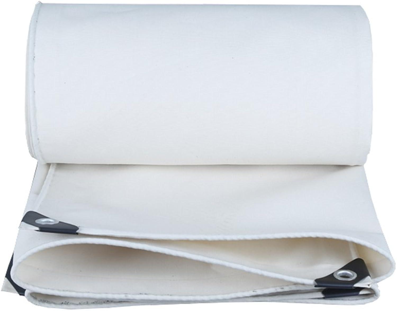 YX-Planen Mehrzweck Plane Weiße Plane-Blatt-Wasserdichte Hochleistungs für Camping-Fischen-Gartenarbeit, Stärke 0.8mm, 500g   m² - 100% wasserdicht und UVgeschützt, 15 vorhandene Größe Schutzplane B07K46FBMW  Geeignet