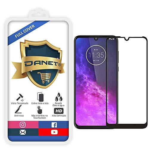 Película De Vidro Temperado 3D Full Cover Para Motorola Moto One Zoom Com Tela De 6.4 - Proteção Blindada Top Premium Que Cobre Toda A Tela - Danet