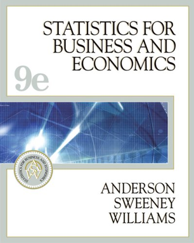 Statistics for Business and Economics, w. CD-ROM in Metal Box: With Student CD ROM, Ipod Key Term and Infotrac