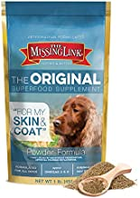 The Missing Link Original All Natural Superfood Dog Supplement- Balanced Omega 3 & 6 to support Healthy Skin & Coat - Skin & Coat Formula - 1 lb.