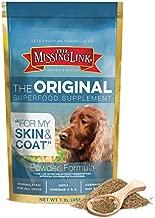The Missing Link Original All Natural Superfood Dog Supplement- Balanced Omega 3 & 6 to support Healthy Skin & Coat - Skin & Coat Formula - 1 lb.