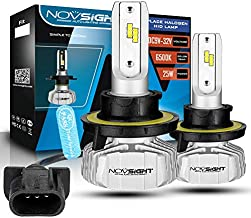 Novsight LED Headlight Bulbs - H13 (9008 High/Low) -10000Lumens 50W 6500K Cool White DC(9V-32V) 360°Beam Angle Silent Fanless with SEOUL CSP Y19 LED Chips -2 YEARS WARRANT