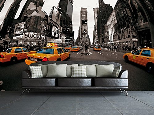 1Wall New York Taxi Cabs Wall Mural