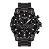 Tissot Men's Supersport Chrono Swiss Quartz Stainless Steel Strap, Black, 22 Casual Watch (Model: T1256173305100)