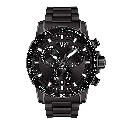Tissot orologio Supersport Chrono 45,5mm nero quarzo acciaio finitura PVD nero T125.617.33.051.00