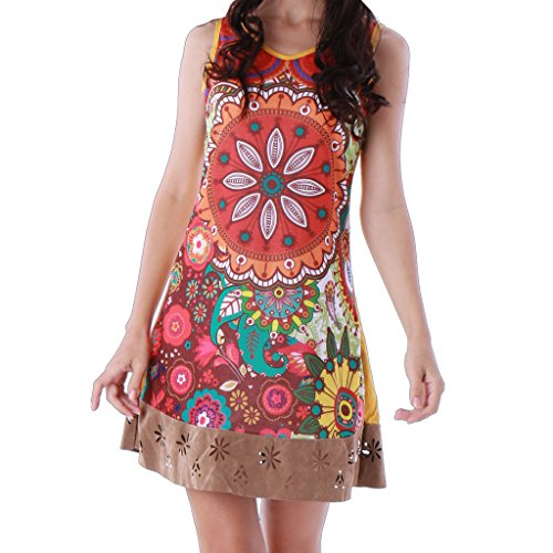 PANASIAM Kleid, UGrSD237, in Coffee, S