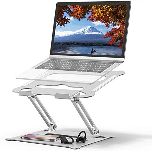 Laptop Stand, Coolwin Laptop Holder, Multi-Angle Stand with Heat-Vent to Elevate Laptop, Adjustable Notebook Stand for Laptop up to 17 inches, Compatible for MacBook Pro/Air, Surface Laptop
