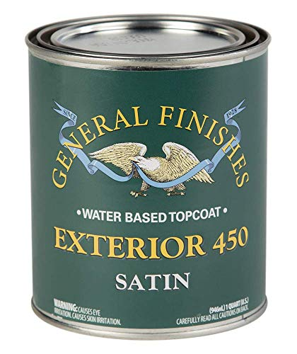 General Finishes Exterior 450 Water Based Topcoat, 1 Quart, Satin