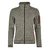 CMP Knit Tech Polyester-Strickfleecejacke Chaqueta de Forro Polar, Mujer, Moss-Escarlata, 50