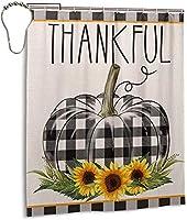 感謝祭の感謝祭のシャワーカーテン、バスルームのカーテンの装飾のためのポリエステル防水ファブリックバスタブセットフック付き72 X72インチ