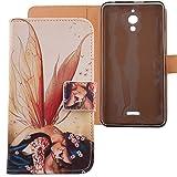 LANKASHI Wing Girl Design PU Flip Billetera Funda De Carcasa Cuero Case Protective Cover Piel para Alcatel One Touch Pixi 4 6' 3G (No 4G)