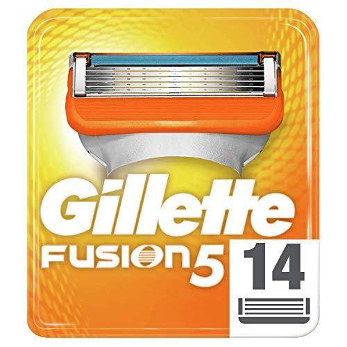 Gillette Fusion 5 - Lame per rasoio con lama di precisione e rivestimento scorrevole, 14 lame di ricambio