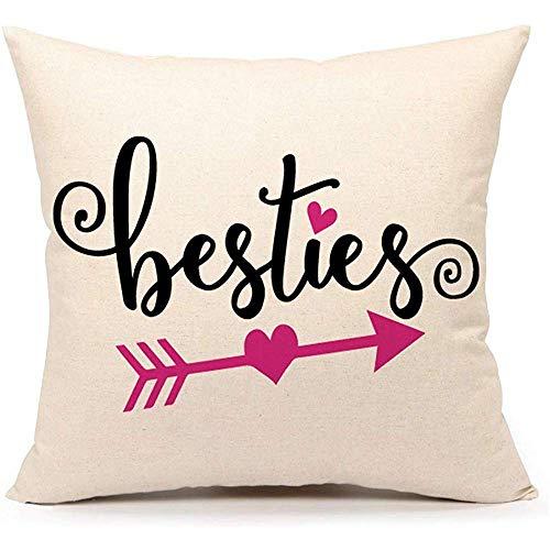 Mesllings Muttertags-Kissenbezug, Liebespfeil, Kissenbezug für Sofa, Couch, 40 x 40 cm