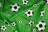 Zanderino ab 1m: Fußball, Druck, grün, 140cm breit