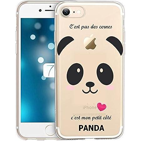 Coque Iphone 6 6S Panda Coeur Rose Cute Kawaii Transparente ...