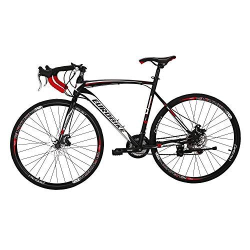 LZBIKE Bicycle XC550 700C 54cm Road Bikes 21 Speed Frame Road Bicycle Black/White Black/White 54-30
