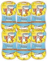 Gillette Venus Riviera Maszynki do golenia dla kobiet, 6 x 3 maszynki jednorazowe dla kobiet