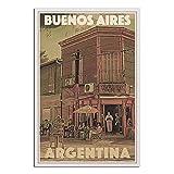 Argentinien Buenos Aires Vintage Reise Poster Leinwand