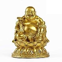 純粋な真鍮風水八宝仏の装飾置物2サイズの富とオフィスホームのための幸運の彫刻