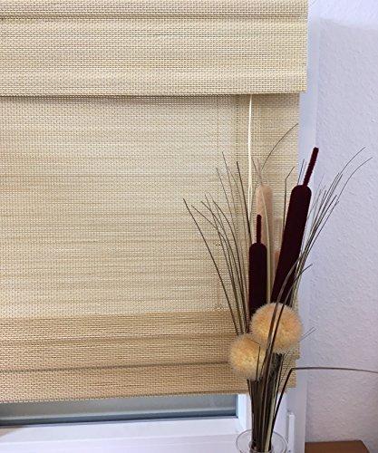 Raffrollo Bambus natur hell, Modell mydeco nature , 140 cm breit bis 175 cm hoch