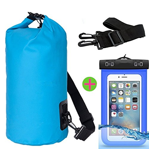 Borsa impermeabile, J2CC Drybag con guarnizioni e bandoliere, J2CC sacchetto impermeabile con sacchetto impermeabile della cassa del telefono (Fit iPhone 6 Plus, 6.5, S6, S5, Nota5, nota 4 e più)