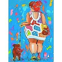 新しいファットレディダイヤモンド刺繍フルスクエアラウンドダイヤモンド絵画かわいい犬のクロスステッチモザイク絵画ファットレディ