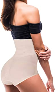 Winroor Womens Shapewear Tummy Control Panties Body Slimming Butt Lifter Elasticity High Waist Brief Shaper Underwear