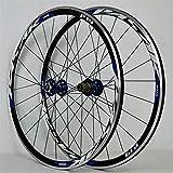 Jante de vélo 700C Jante de vélo de route Superlight Racing Wheelset Disque/V Frein Roue de vélo 7-11 vitesses Cassette scellée Moyeu de roulement 6T QR 1700g Essieux à dégagement rapide Accessoire de