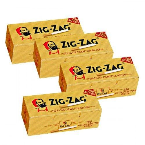 10 x 1.000 Zig Zag Filterhülsen
