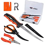 RUNCL Fishing Fillet Knife Combo Set, Fishing Tools Kit With 6' Fillet Knife, Scissors, Sharpener, Fishing Pliers and 3600 Tackle Box