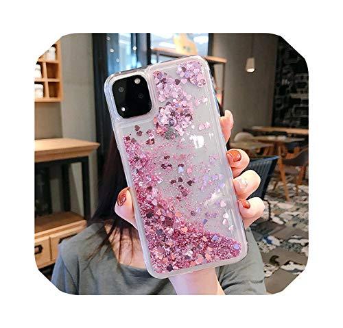 Funda de silicona suave para iPhone 11 Pro XR XS Max XS X 8 7 6S 6 Plus SE 5S 5 Silicona suave Coque Dynamic Quicksand Star cubierta de TPU rosa rojo para iPhone 6 6S Plus