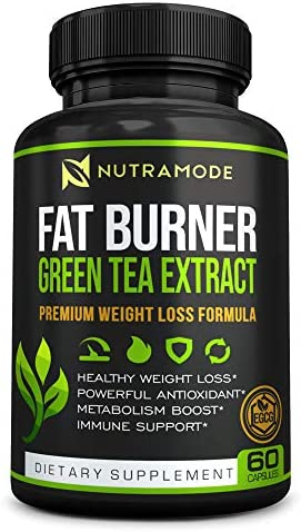 Premium Green Tea Extract Fat Burner Supplement with EGCG Natural Appetite Suppressant Healthy product image