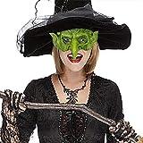 Máscara de bruja de halloween fiesta de carnaval accesorios de escenario máscara de bruja mascarada espeluznante disfrazarse máscara de miedo verde