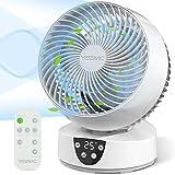 YISSVIC Ventilador Silencioso Ventilador de Sobremesa Ventilador de Circulación ECO 3 Velocidades...