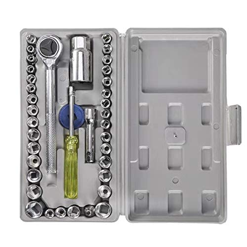 KULIWA CW40 Maletín con juego de llaves de vaso multifuncionales (40 piezas)